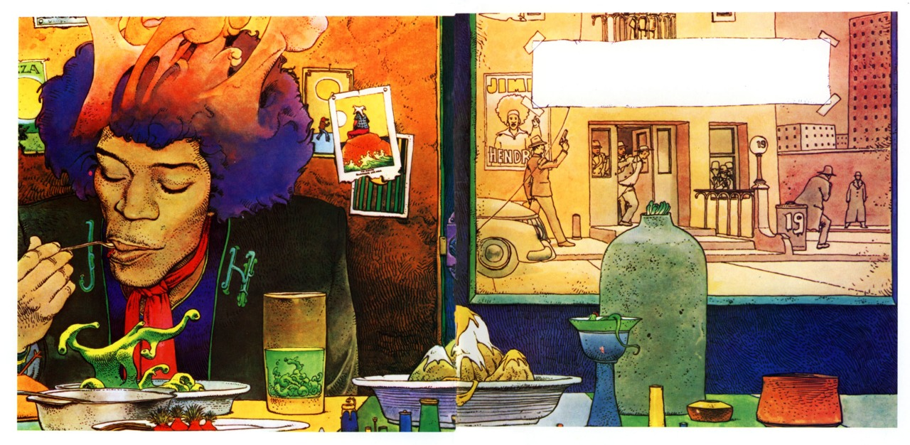 Swirly Green Watercolor Slimey Tendrils Illustration