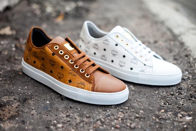 MCM Visetos Brown Urban Nomad High Sneakers for men running shoes for women MCM Brown walking
