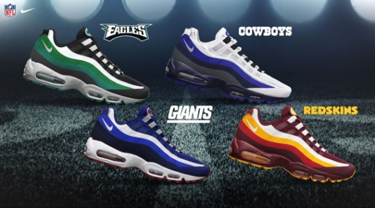 pretty nice 3ce67 7ad92 Nike Air Max 95 NFL Draft Pack
