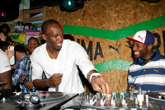 Usain Bolt and Manny Norte at The Puma Yard, Brick Lane