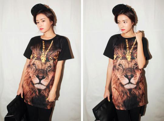 I-likeitalot Lion King Print tee