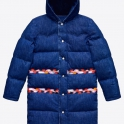 £199.99 Kenzo Blue Denim Puffer