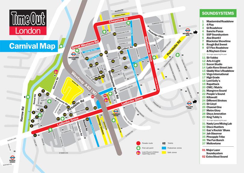 Notting Hill Carnival Map Notting Hill Carnival RemixedI Like It A Lot | I Like It A Lot